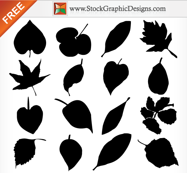 Leaves Silhouette Vector Free