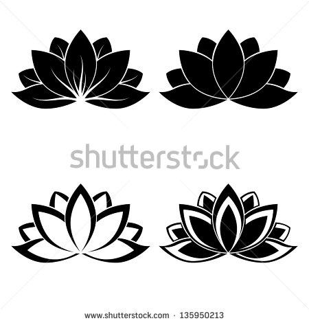 Lotus Flower Silhouette Vector