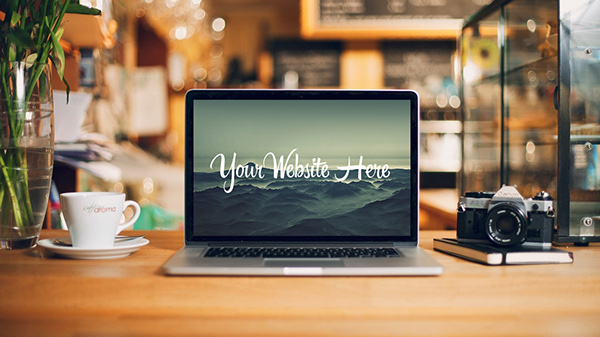 MacBook Mockup PSD Desk