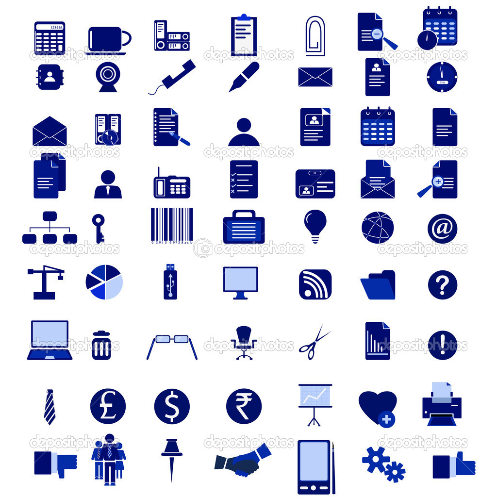 15 Office Vector Icon Pack Images - Office-Supplies Icon ...