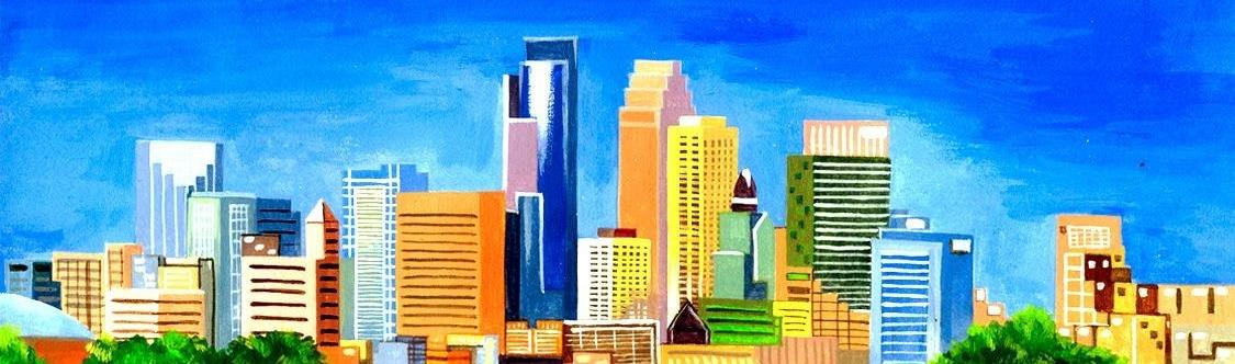 Minneapolis Skyline Drawing
