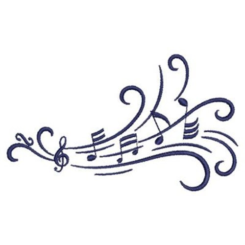 9 Music Notes Machine Embroidery Designs Images