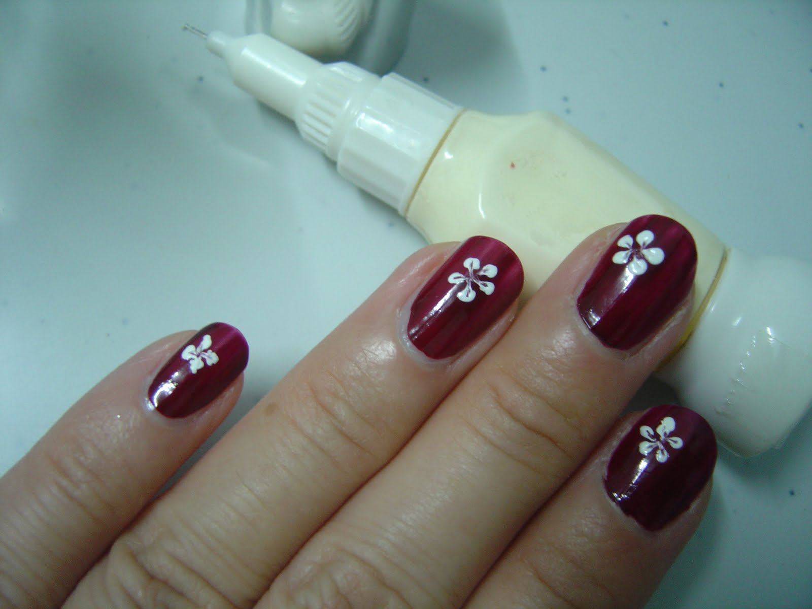14 Easy Flower Nail Designs Images