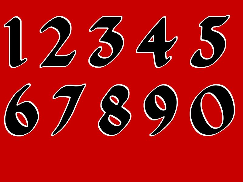 NASCAR Numbers Font