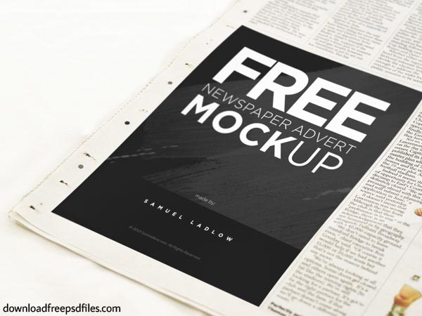 Newspaper PSD Mockup Free Download