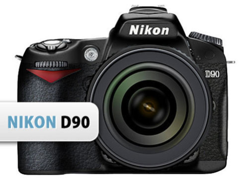 8 Nikon Camera PSD Images