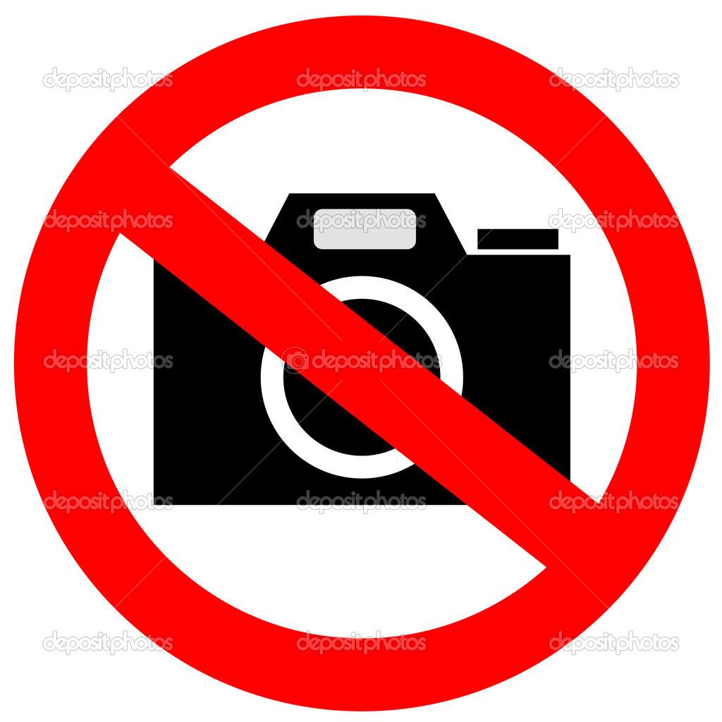 No Cameras Allowed Sign