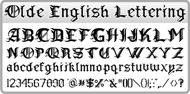 12 1776 old english calligraphy font images
