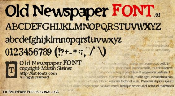 15 Old Newsprint Font Images