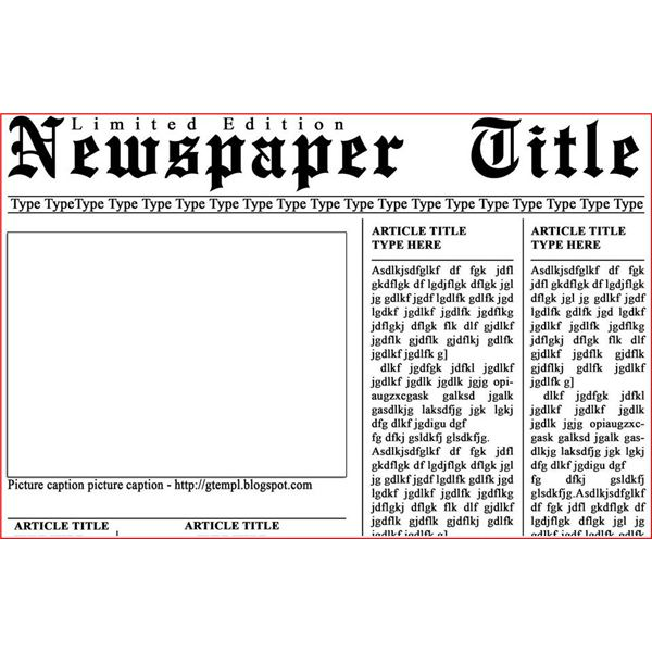 11 Newspaper PSD Templates Typewriter Images