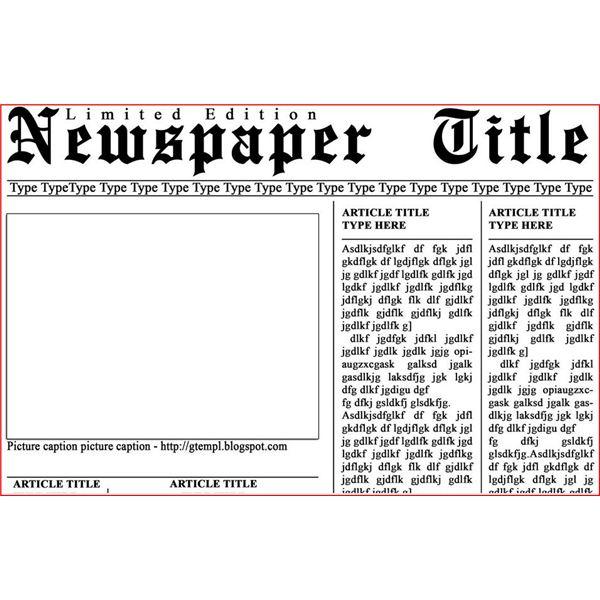Microsoft Newspaper Template from www.newdesignfile.com