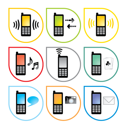 18 Vector Icon Telephone Mobile Images