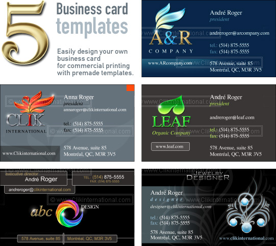 Photoshop Business Card Layout