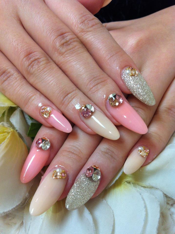 Acrylic Nail Designs Pink And Silver: Social build acrylic nails ...