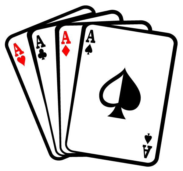 Playing Cards Clip Art Silhouette