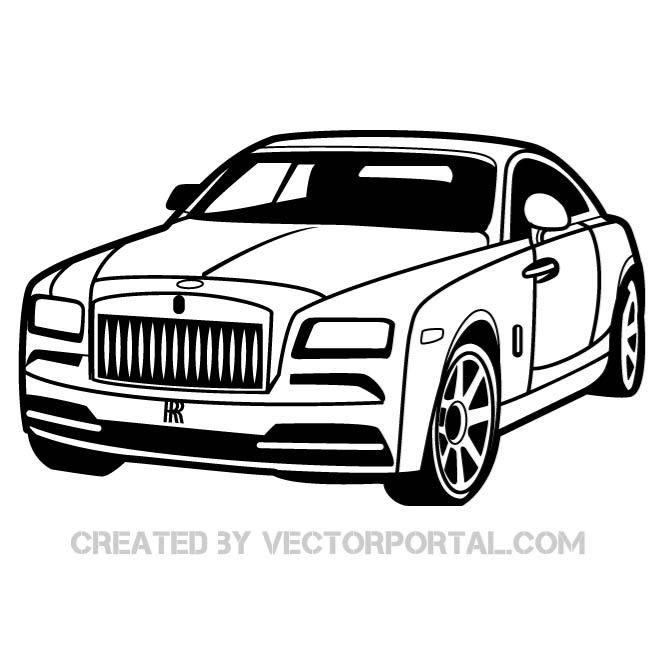 Rolls-Royce Vector Art