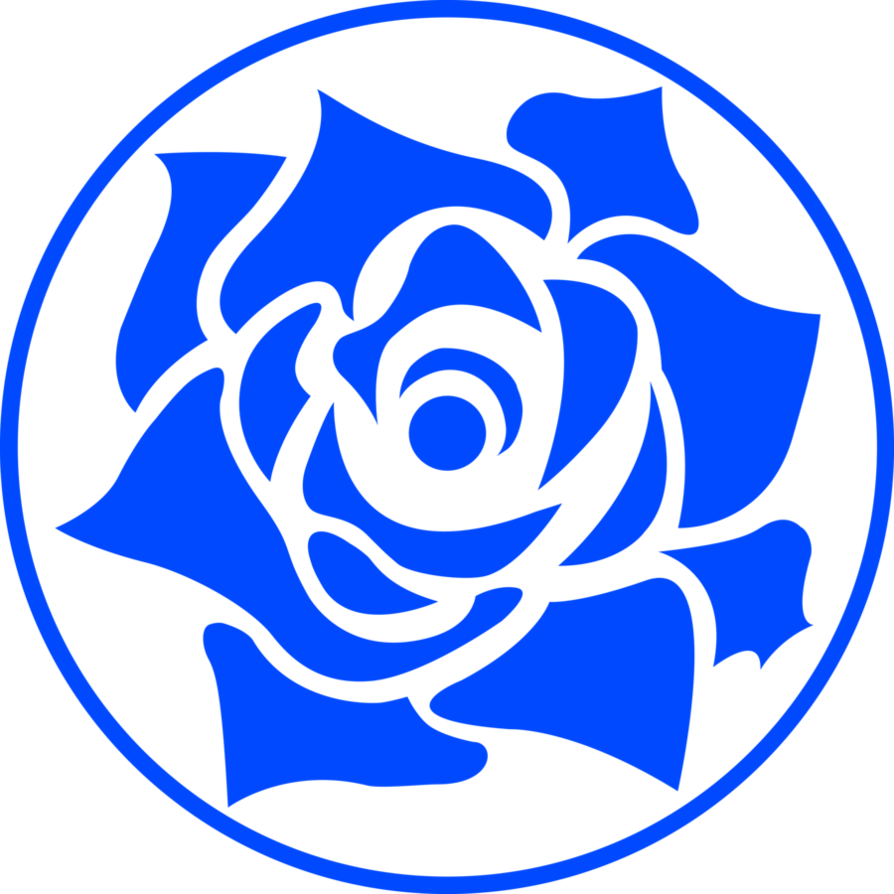 12 Blue Rose Vector Images