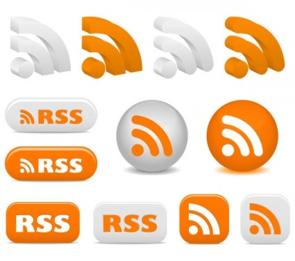RSS-Feed Icons Vector Flat