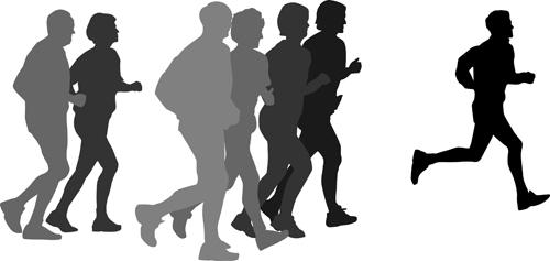 Running Man Silhouette Vector