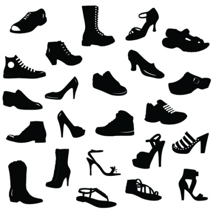 Running Shoe Silhouette Vector