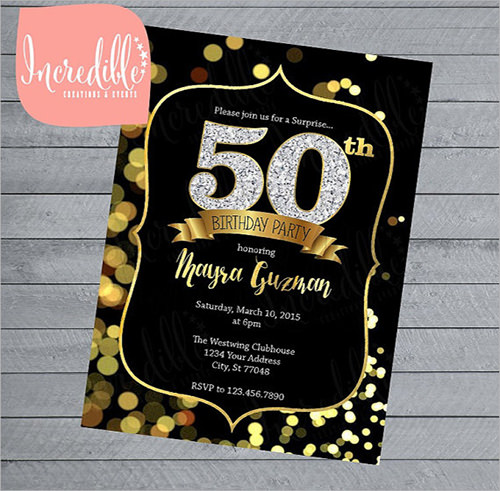 Sample 50th Birthday Invitations