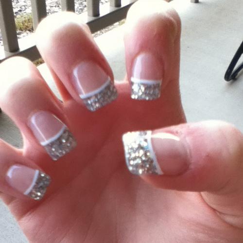 Silver Glitter Acrylic Nail Designs