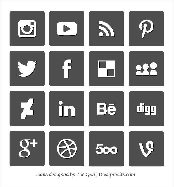 15 2015 Social Media Icons Vector Images