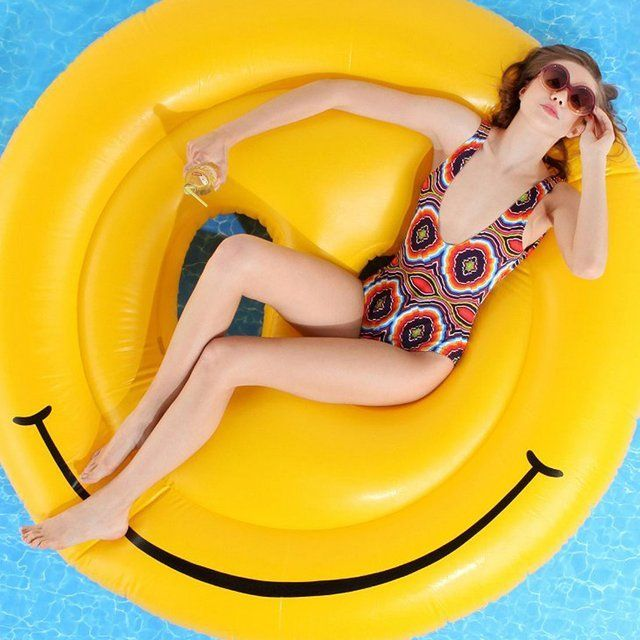 Smiley-Face Pool Float