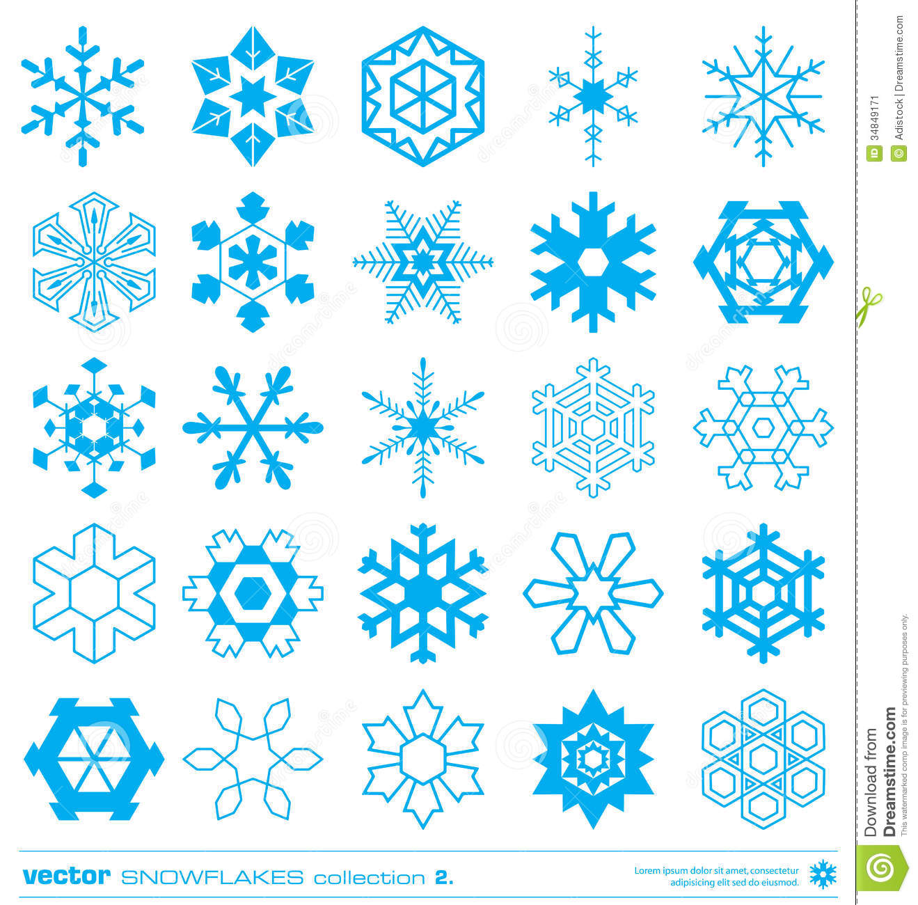 Snow Flakes Silhouette Vector