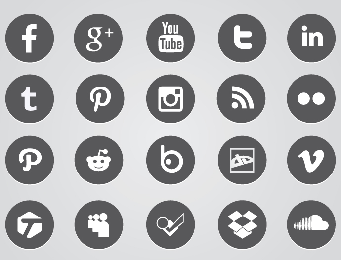 12 Circular Cartoon Icons Images