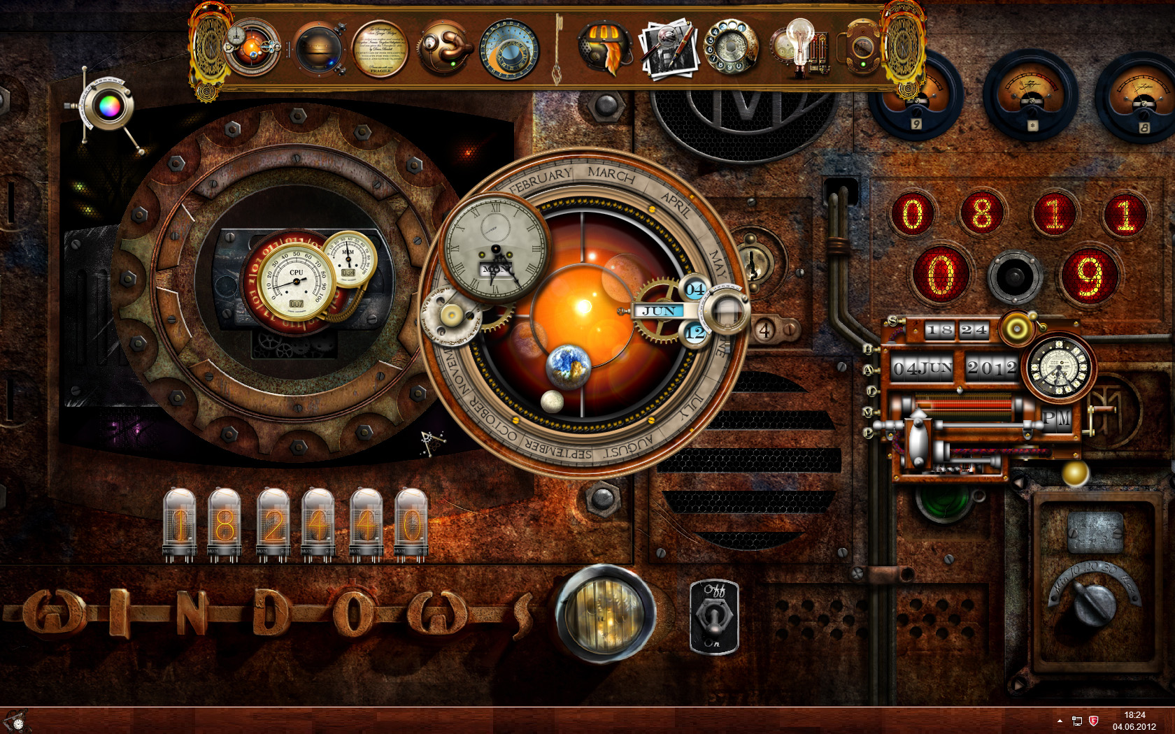 12 Steampunk Desktop Icons Windows 7 Images