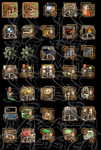 steampunk icons for windows 10
