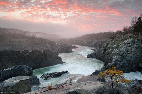 Sunrise Great Falls Potomac River