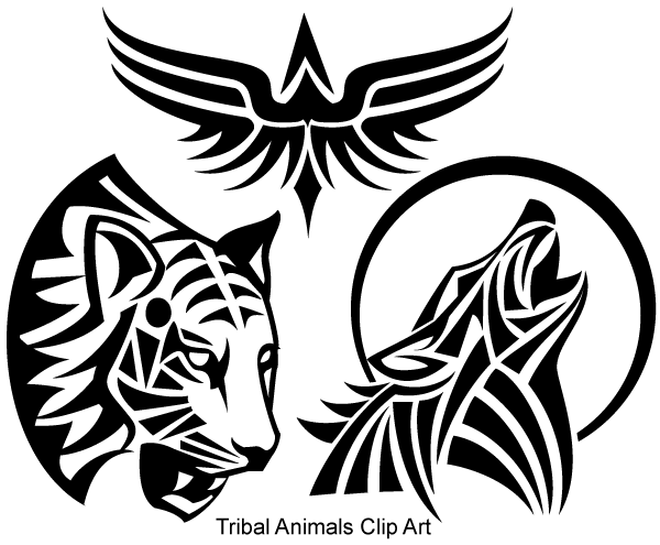 13 Tribal Wolf Vector Free Images