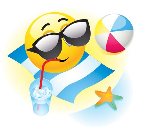 14 Funny Smiley Emoticons Beach Images
