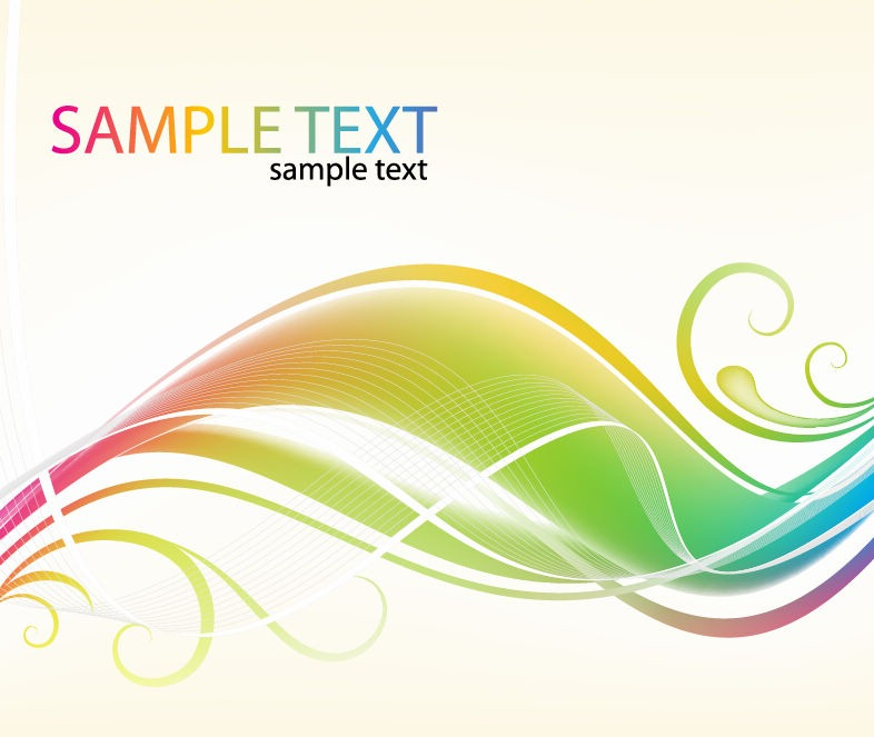 14 Vector Abstract Swirl Rainbow Images