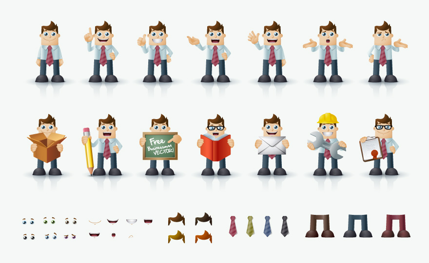 Vector Cartoon Characters for Business