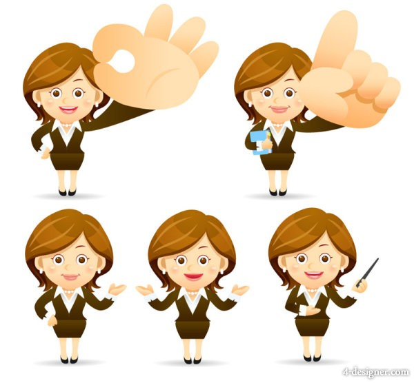 Vector Female Cartoon Characters