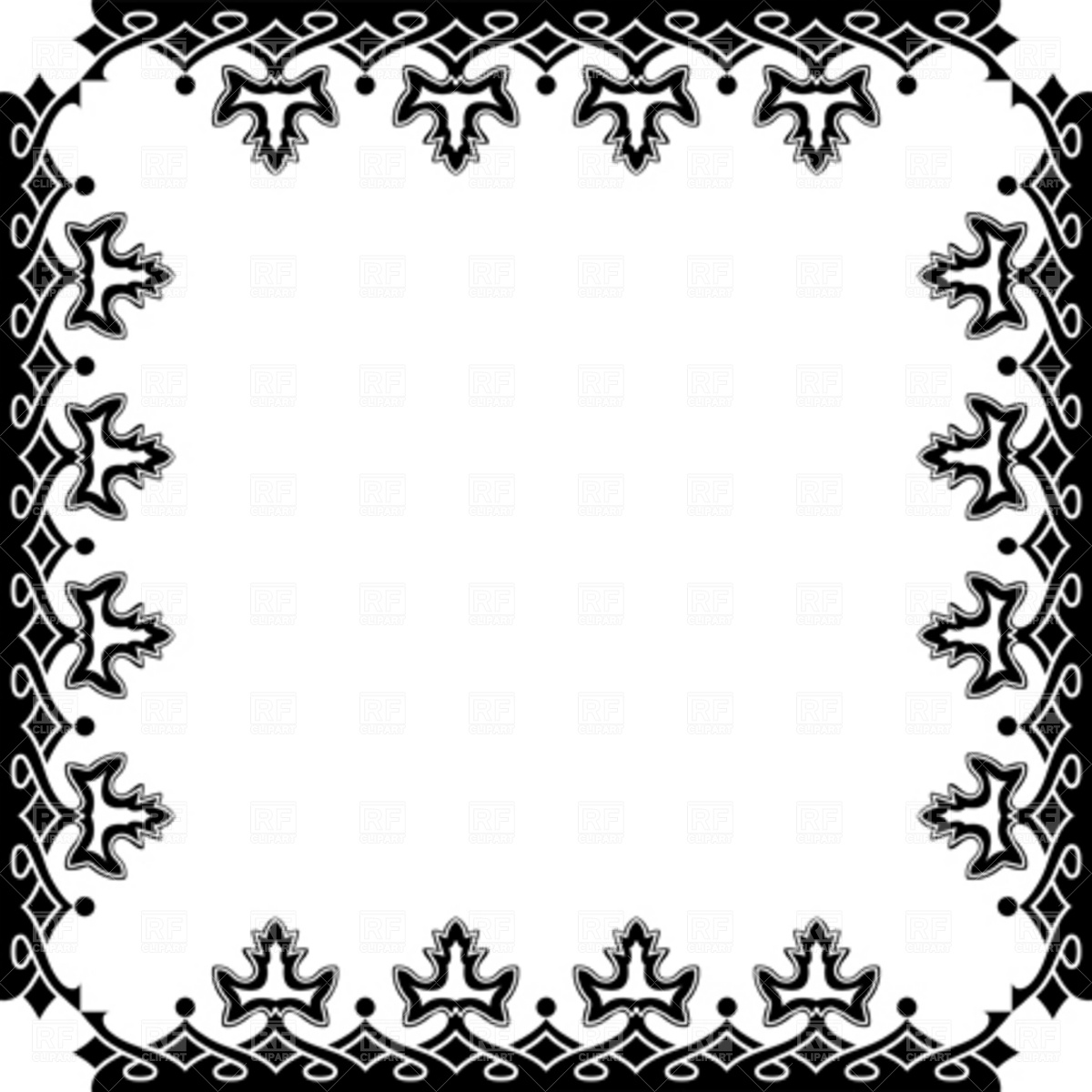 Victorian Borders and Frames Clip Art