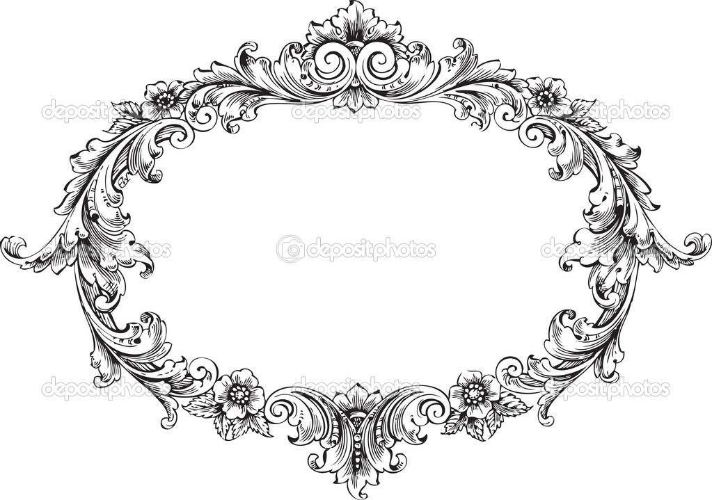 Vintage Oval Fancy Frame Clip Art