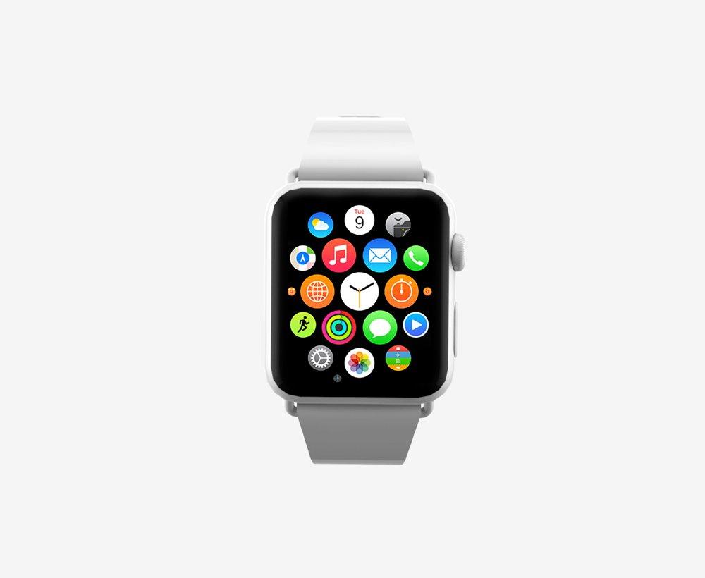 Watch Apple Mockup PSD