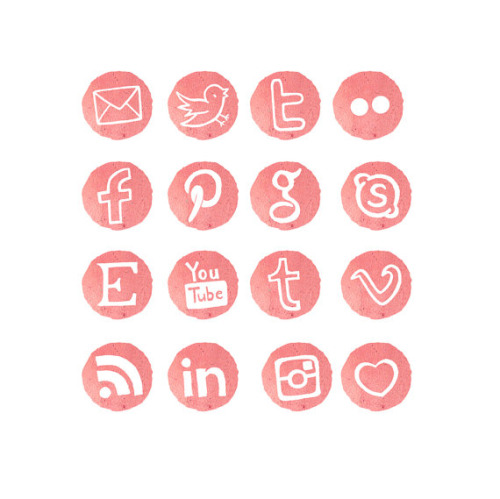 5 Social Media Icons Tumblr Images