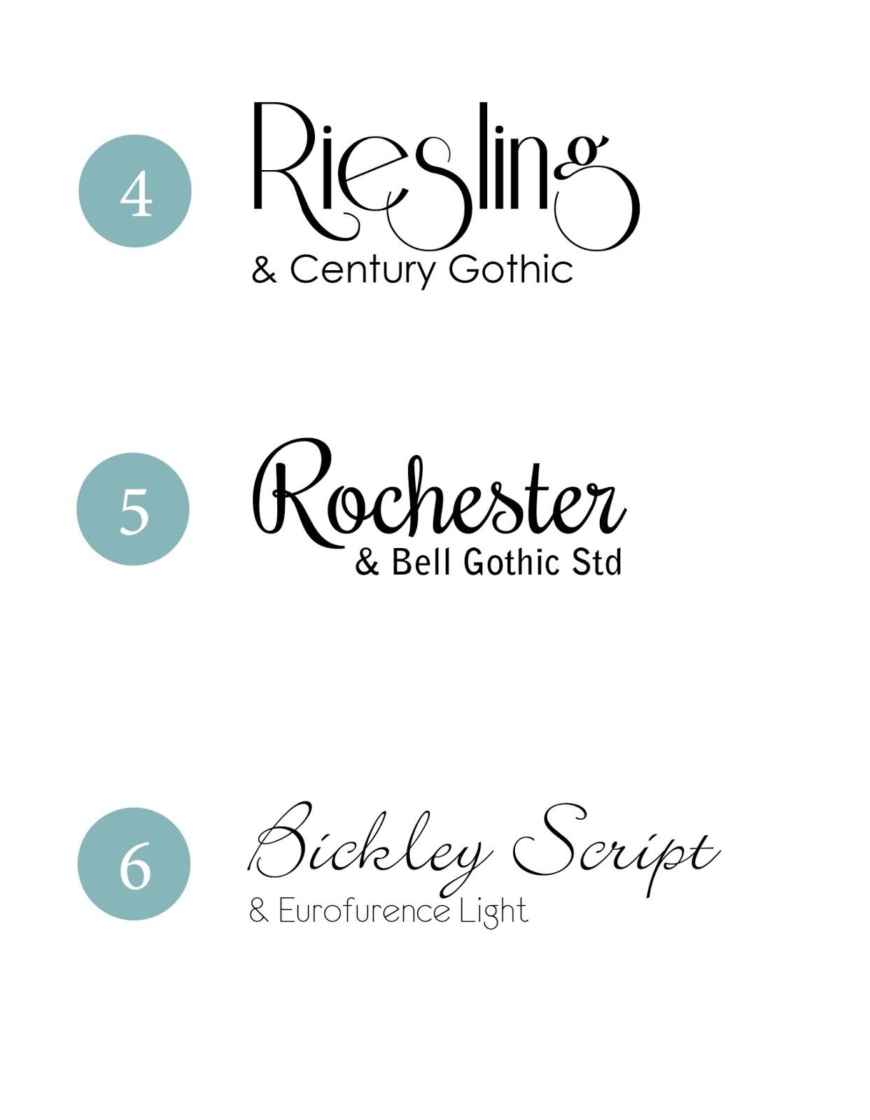 16 Good Font Combos Images