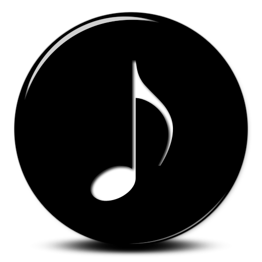White Music Note Transparent Icon Background
