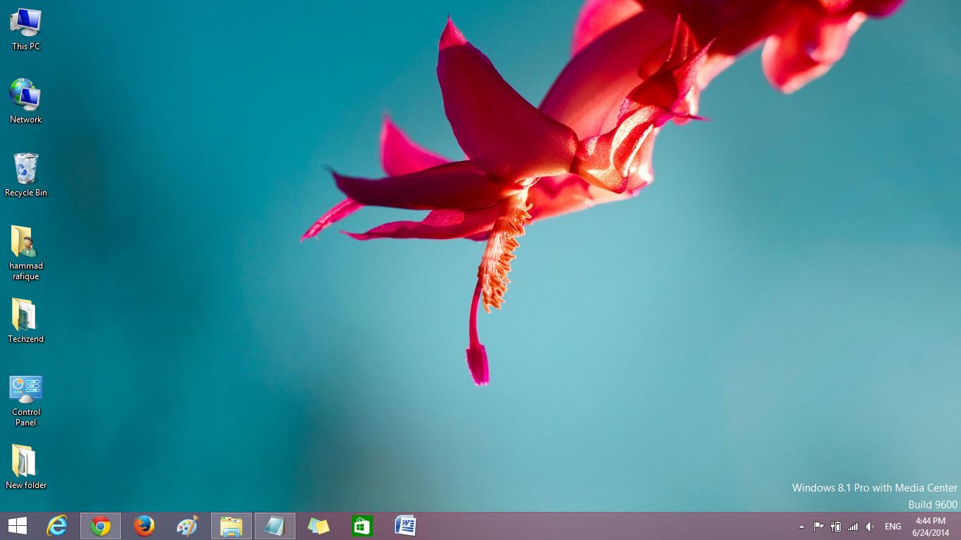 Windows 8 Flower