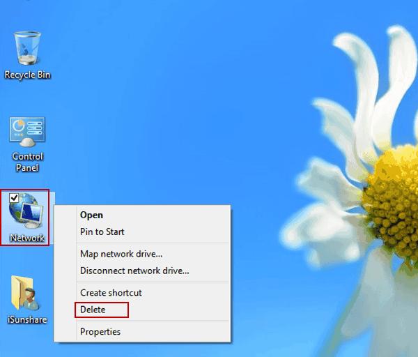 Windows 8 Network Desktop Icon