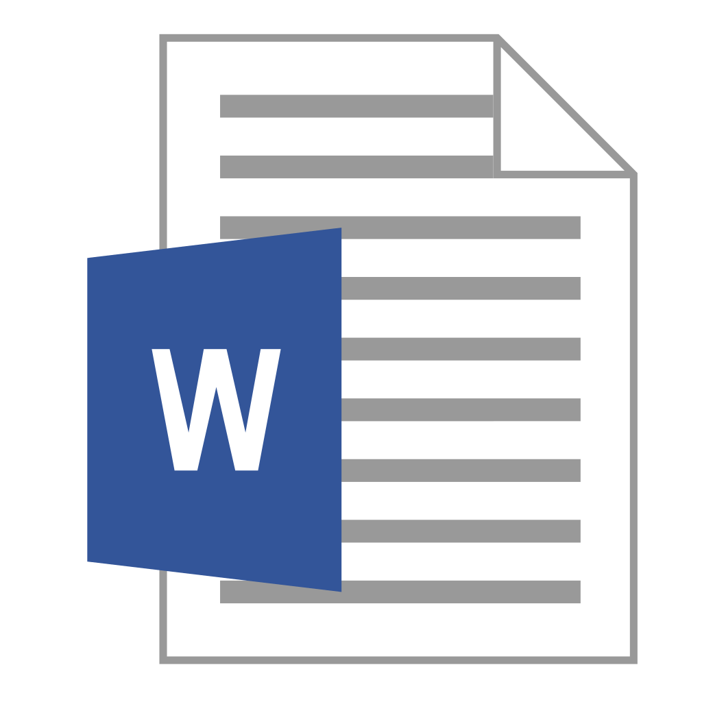18 Word File Icon Images