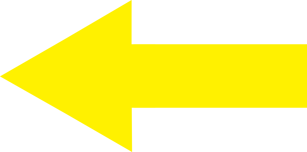 6 Yellow Left Arrows Icons Images