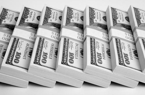 100 Dollar Bill Stacks