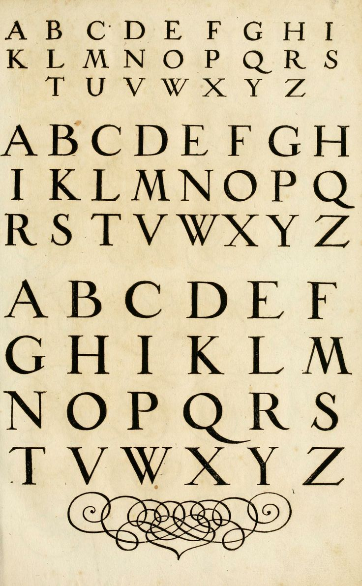9 17th Century Style Font Images